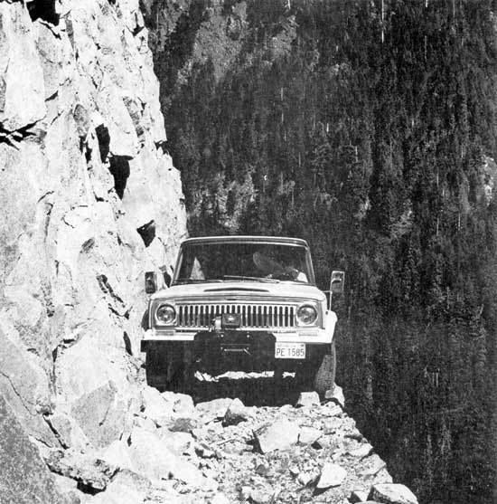 Jeep On The Edge ~ Warn Winch Sale Poster .... 70s