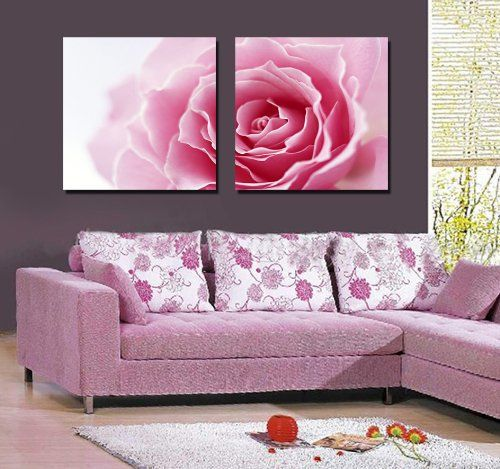 Espritte Art-Large Gorgeous Pink Rose, Picture Painting o... https ...