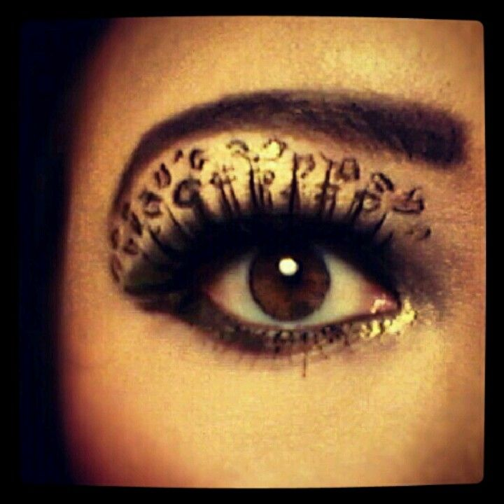 Cheetah Print Eyes Make Up Pinterest Cheetah Print Theatrical