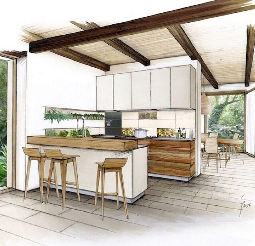 Kitchen Design Sketch Kitchen Sketch Pinteres Model