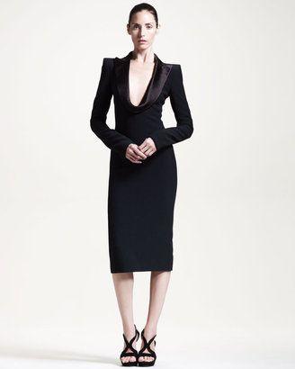 1d386aeab8c ShopStyle +Alexander+McQueenDraped-Lapel+Dress