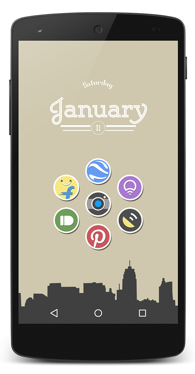 Typographical widget and home screen design by vanessaem on xda ...