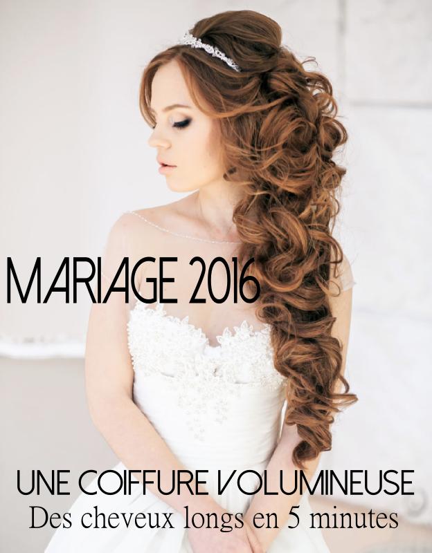 Coiffure de mariage avec rallonges en cheveux naturels à