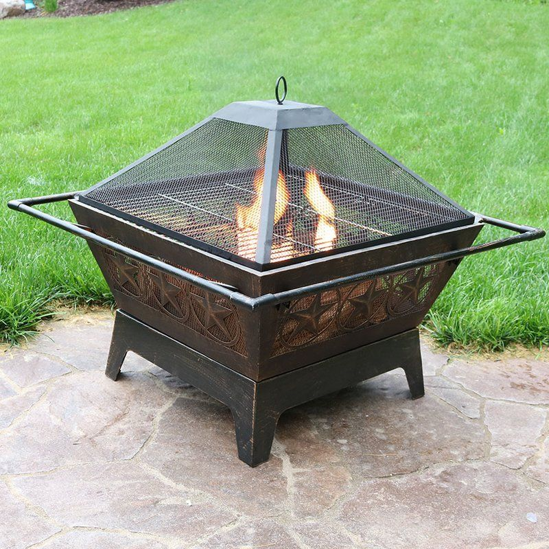 Furtado Northern Galaxy Steel Wood Fire Pit with Cooking
