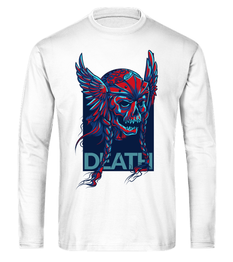 Death Helmet Skull   Illustration   Long Sleeve Tees  #gift #idea #shirt #image #funny #thankinggiving #heart  #art  #bestfriend #mother #father #new #birthday #christmas