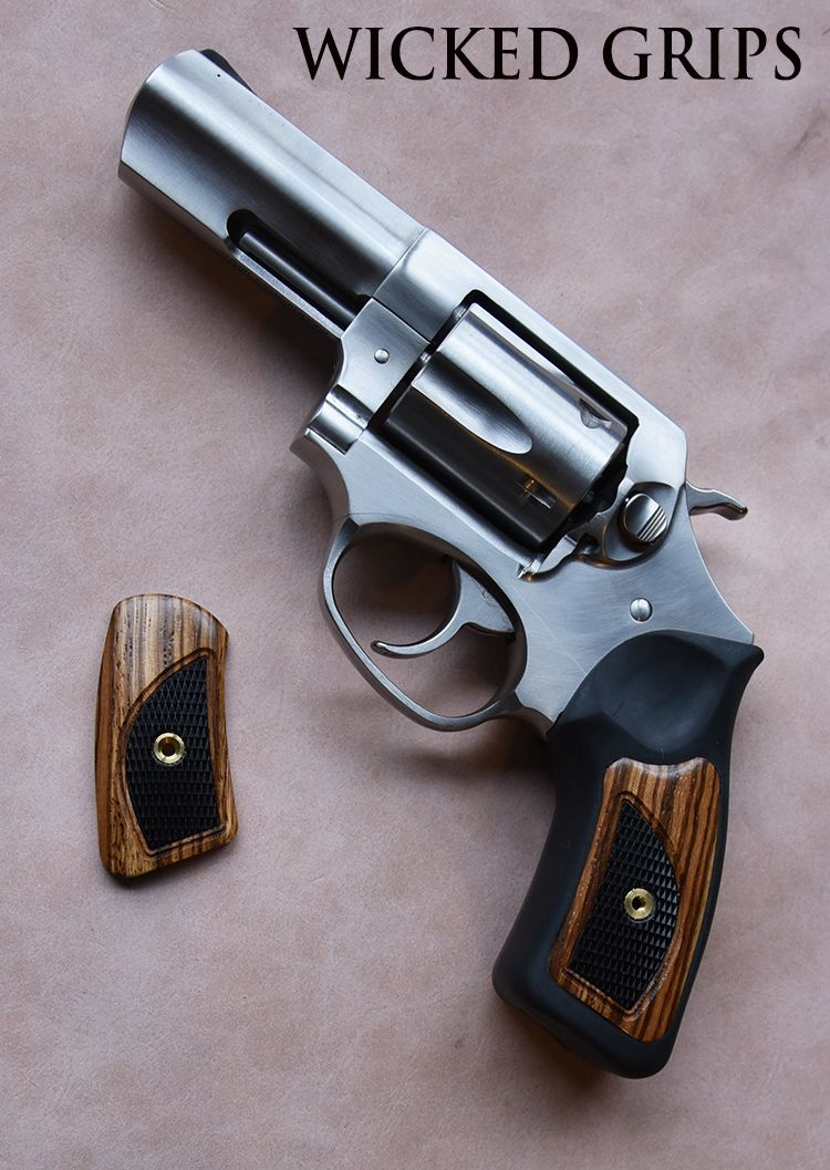 CUSTOM RUGER SP101 WOOD GRIPS! ZEBRAWOOD W/ EBONY INLAY - Wicked