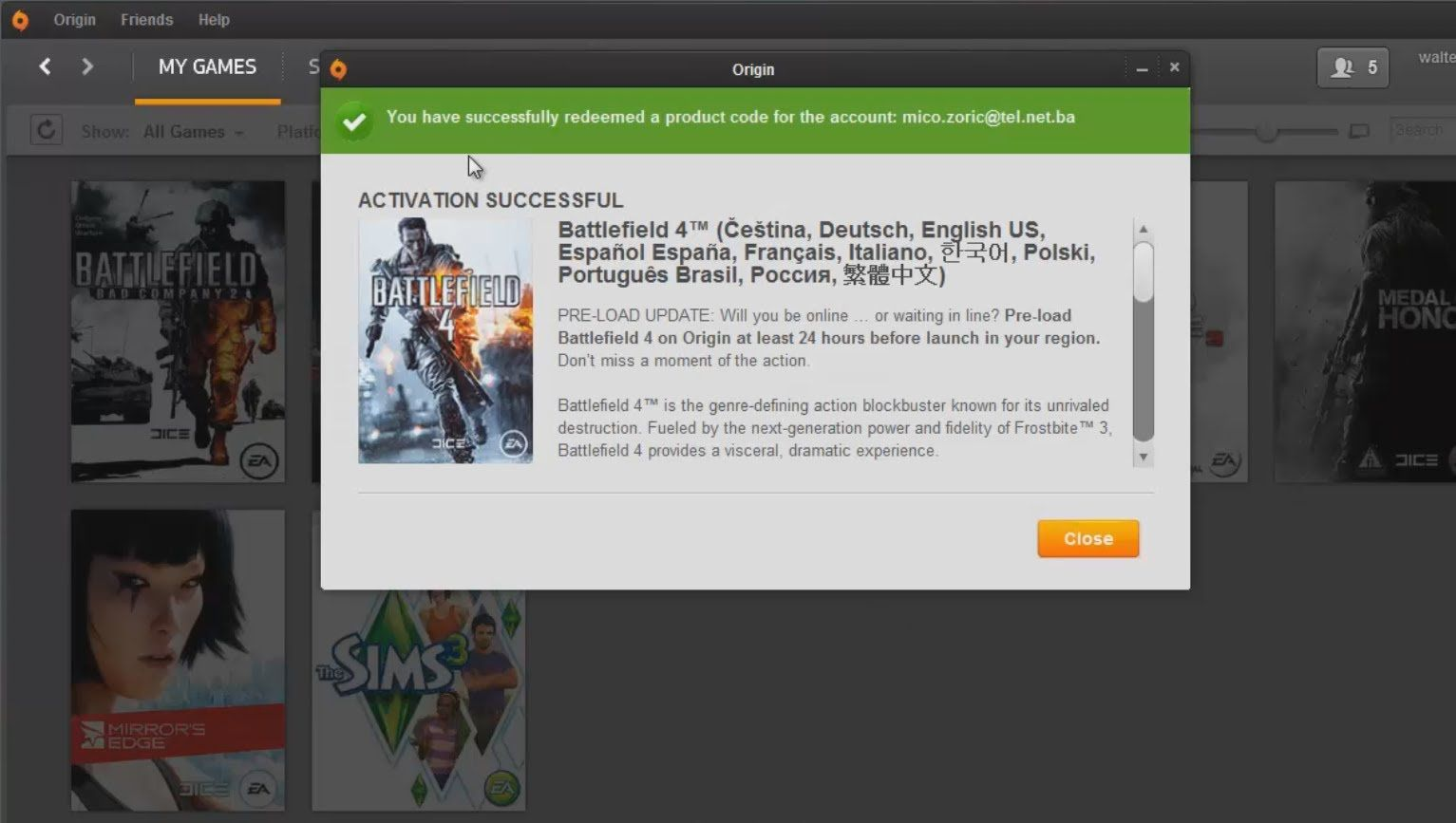 Free Battlefield 4 Product Code (CD Key-Serial) PC|Xbox