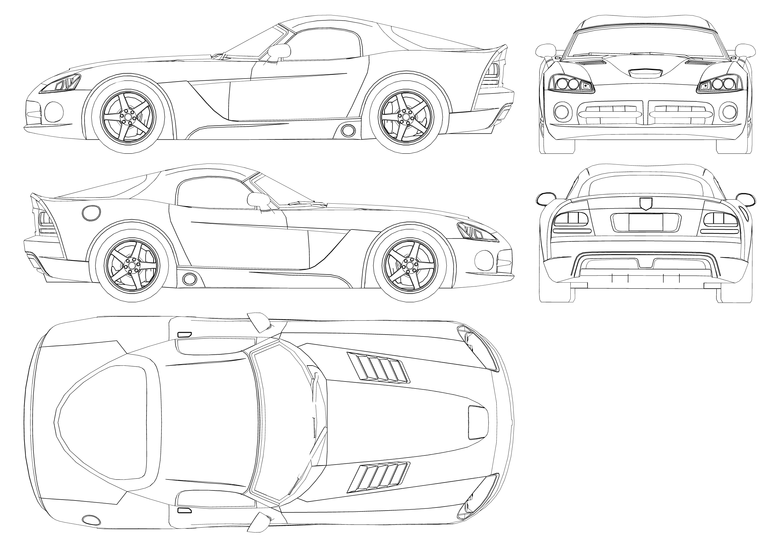 Dodge Viper Srt10 Blueprint