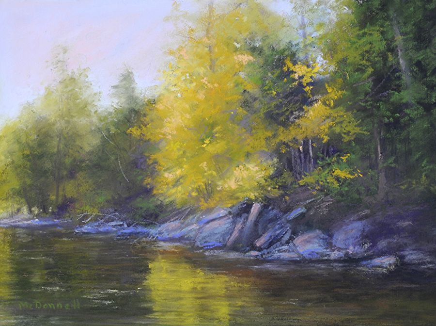 Evening Light #2 by Kathy McDonnell Pastel ~ 9 x 12