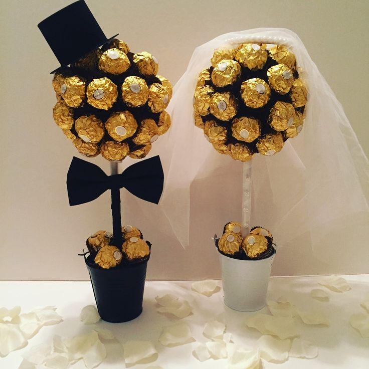 The Wedding Ferrero Rocher Bouquet Bouquet Ferrero Rocher Wedding Pralinenstrauss Diy Geschenke Hochzeit Susse Baume