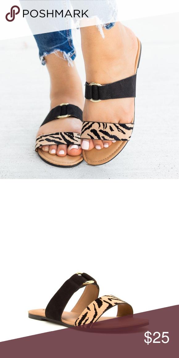 Tiger Stripe Sandals | Striped sandals