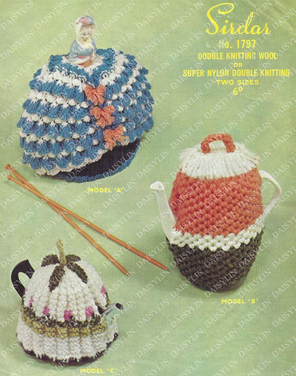 Instant PDF Digital Download 2 tea cosies & coffee pot ...
