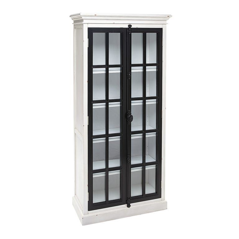 """Cremone Black & White 72"""" Tall Cabinet 