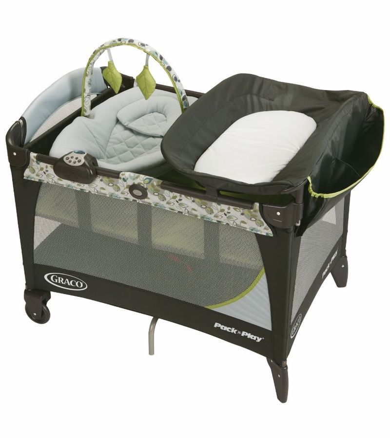 Travel Playpen Nursery Station Binet Playard Mini Crib Infants Packnplaynurserystation