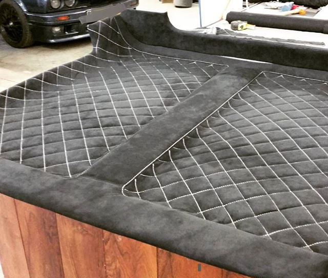 auto upholstery the hog ring custom headliner 10 cool custom headliners on instagram auto. Black Bedroom Furniture Sets. Home Design Ideas