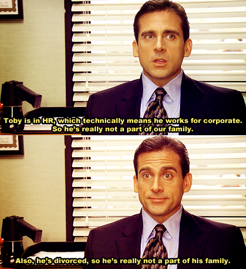 Haha I Love Michael And How Much He Hates Toby Office Jokes The Office Show The Office