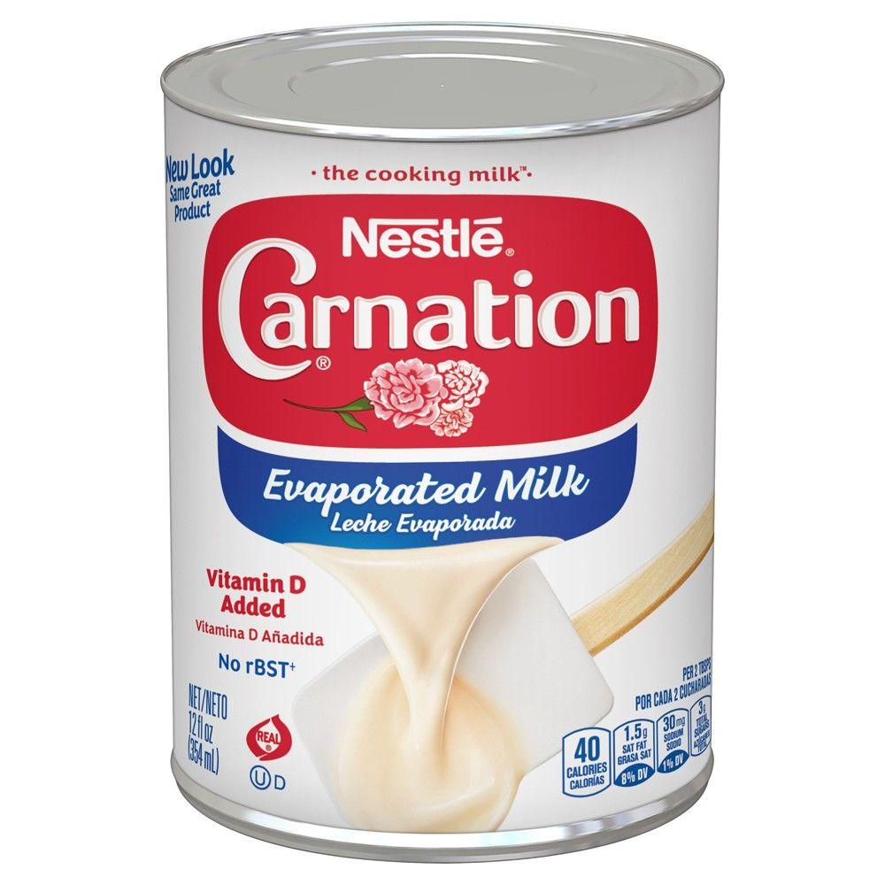 Nestle Carnation Evaporated Milk 12oz Evaporated Milk Evaporated Milk Substitute Milk Recipes