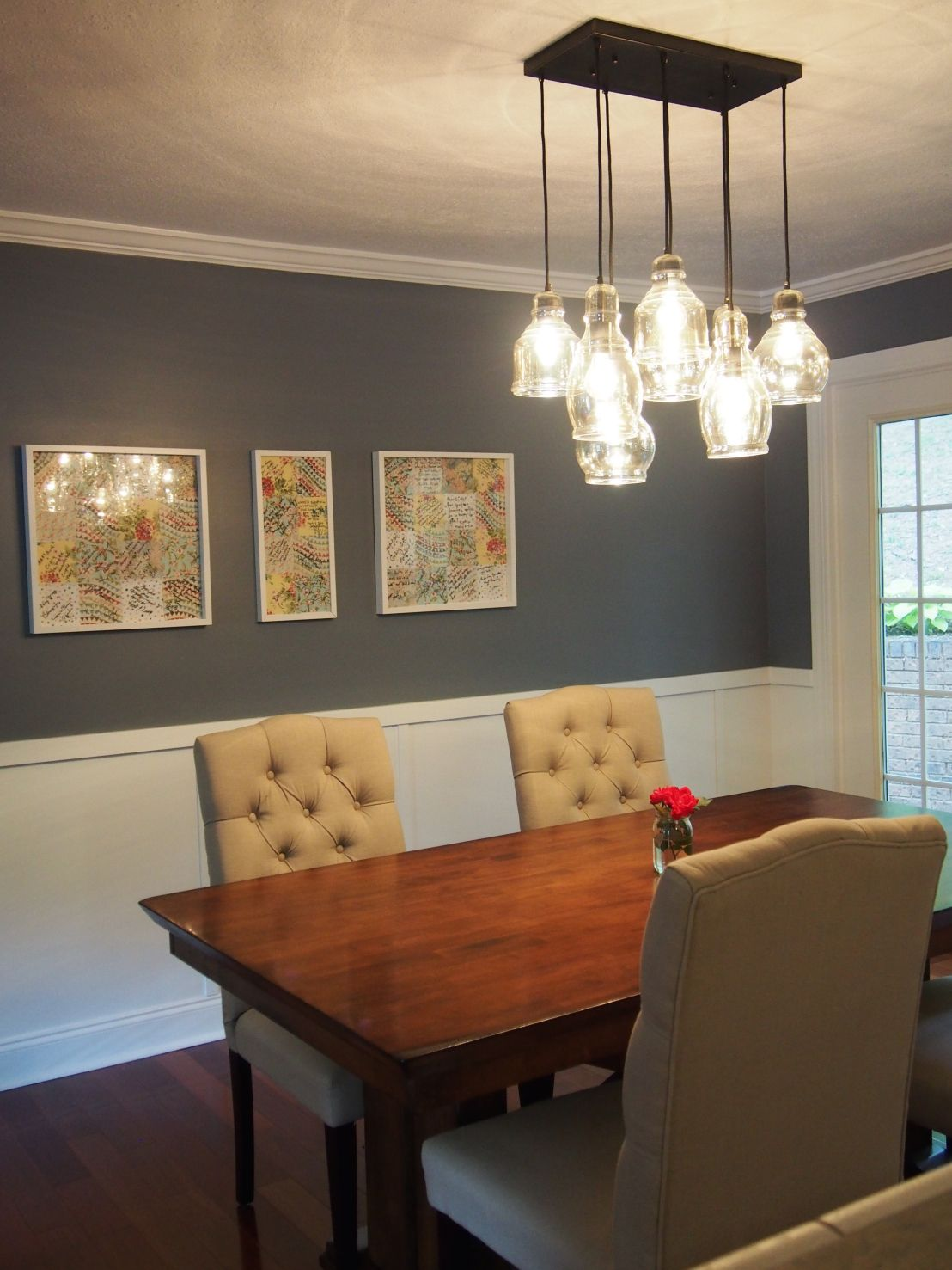 Dining Room Remodel Inspiration Dining Room Remodel  Sherwin Williams Storm Cloud Pendant Decorating Inspiration