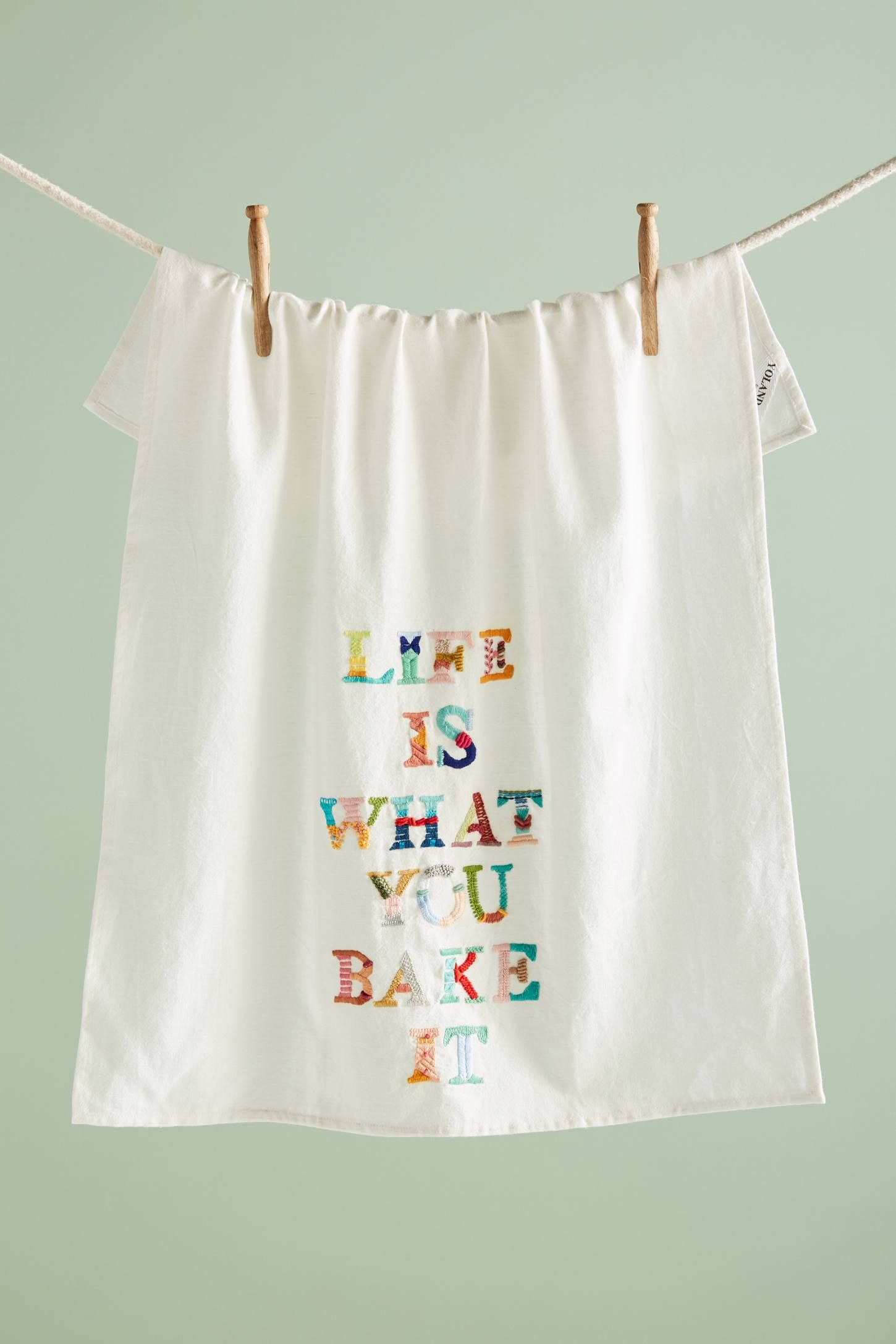 Yolanda Andres Life Is What You Bake It Dish Towel Dish Towels Tea Towels Anthropologie Home