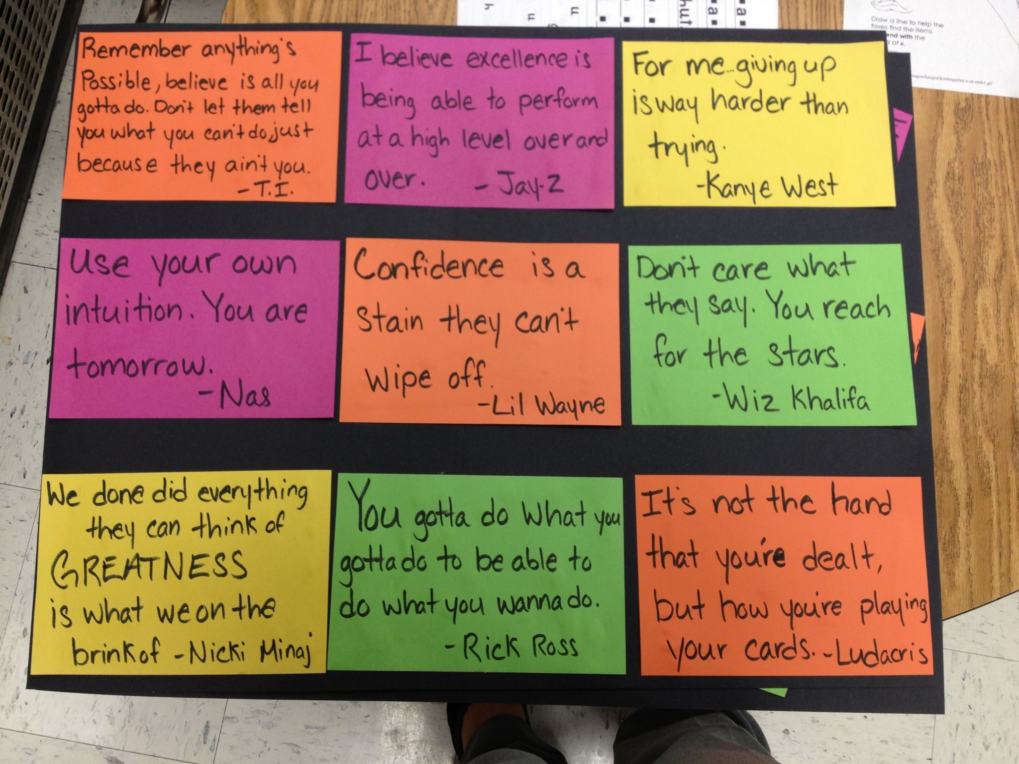 Motivational Quotes From Rappers For 5th Class School Pinterest