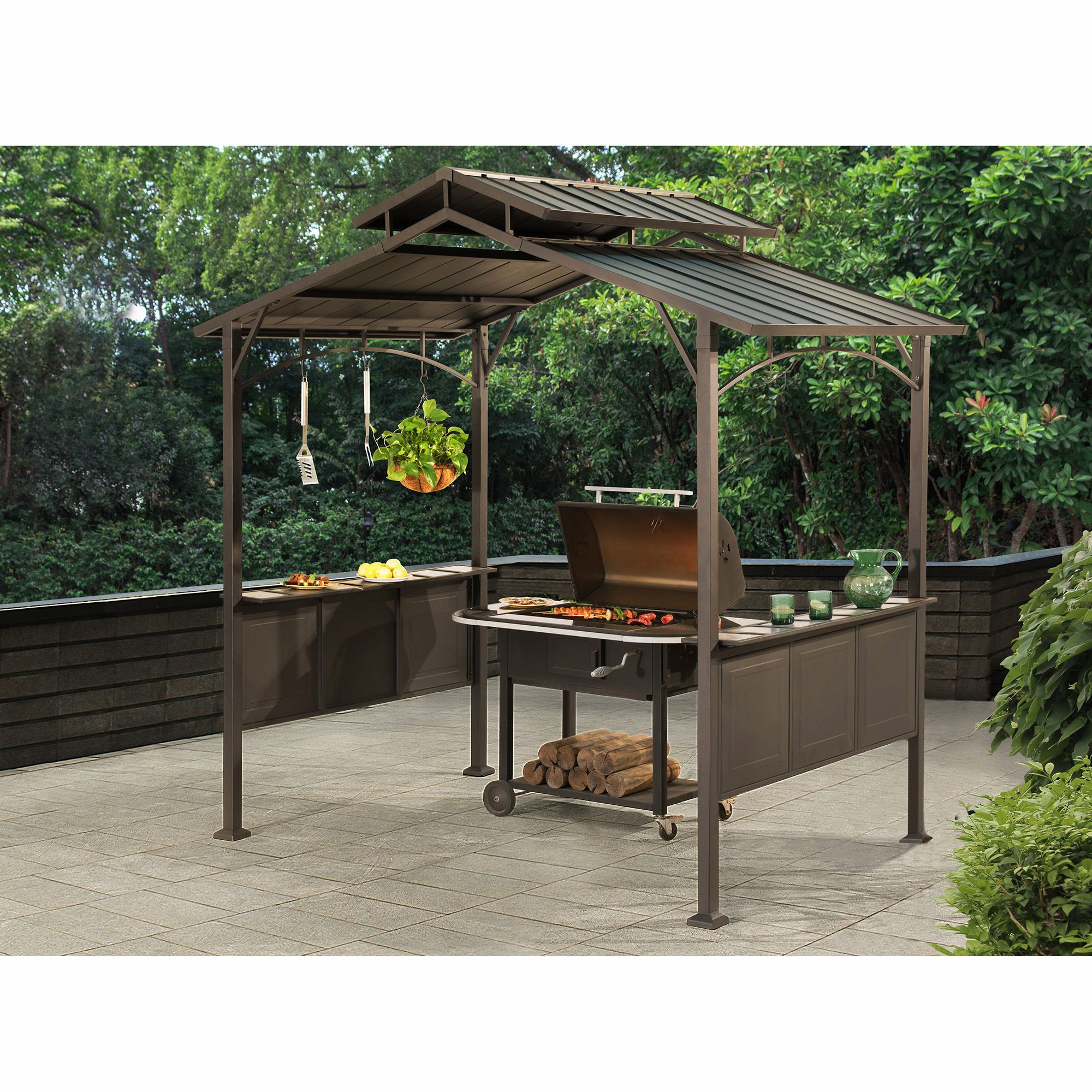 Sunjoy 8x5 Kent Hardtop Grill Gazebo Bjs Wholesale Club Grill Gazebo Patio Gazebo Canopy Outdoor