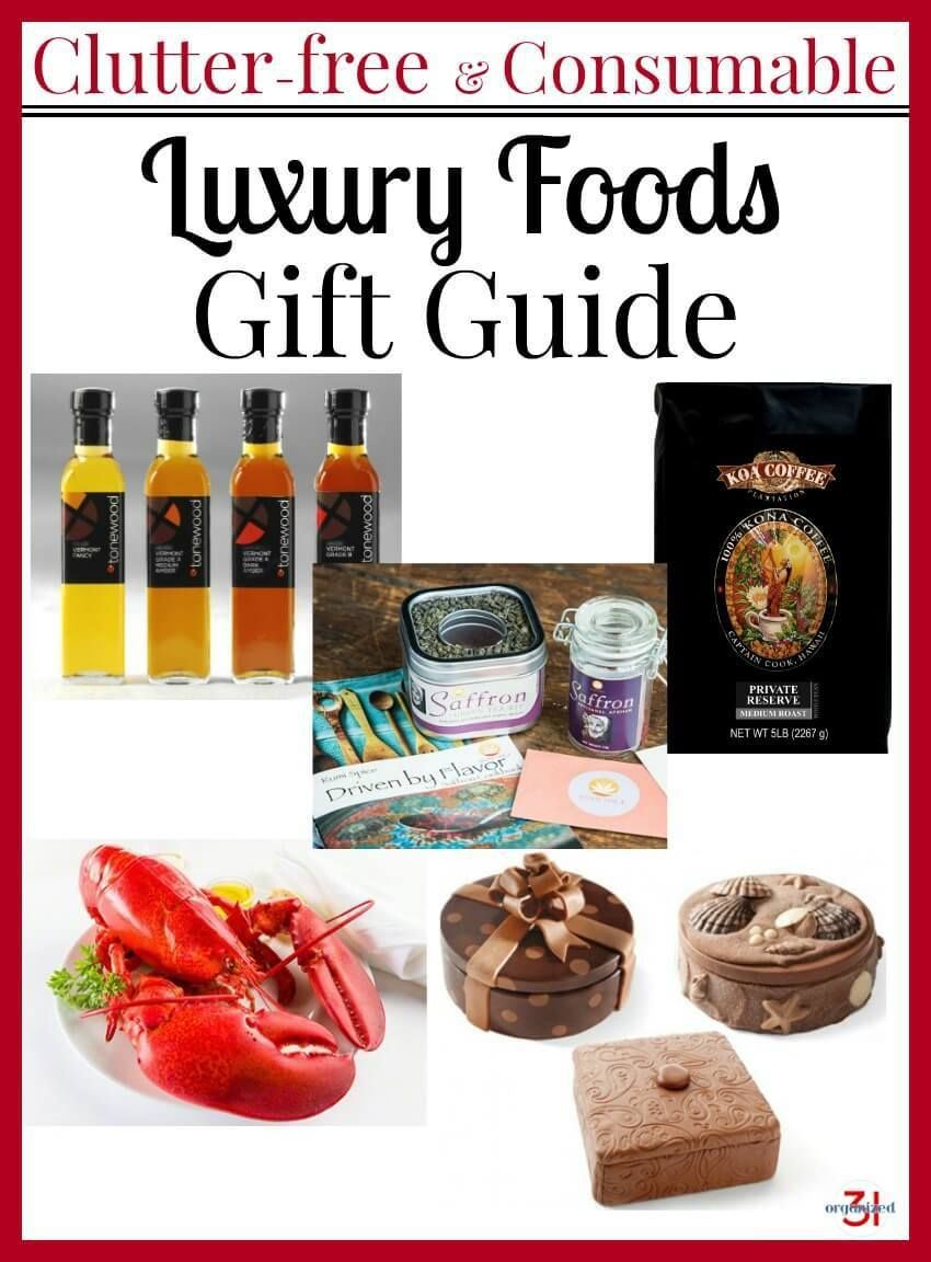 Luxury Food Gifts Guide   Luxury food, Food gifts and Clutter