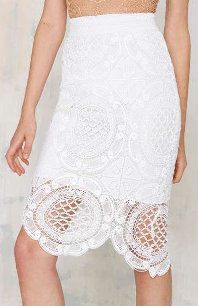 Lioness Gemini Lace Skirt
