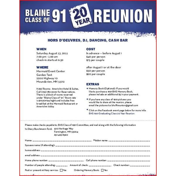 Announce Your High School Reunion With These Free Flyer Templates