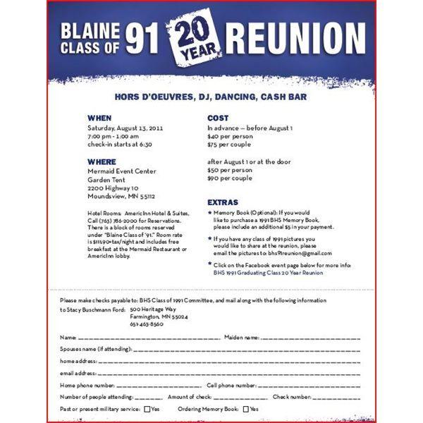 Class Reunion Invitation Letter – Reunion Invitations Templates