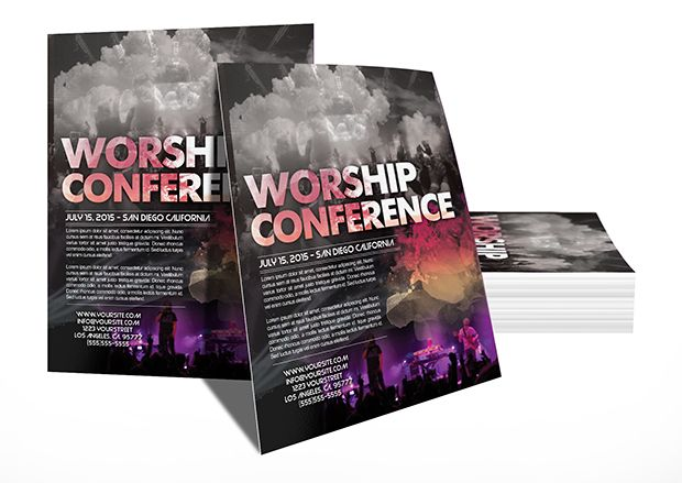 Christian Conference Event Christian conferences, Psd templates - christian flyer templates