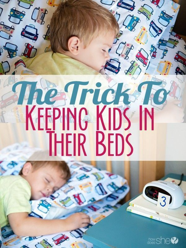 The trick to keeping kids in their beds (1) | Pre K 3 ...