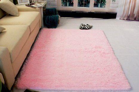 Super Soft Modern Shag Area Silky Smooth Rugs Living Room Carpet ...