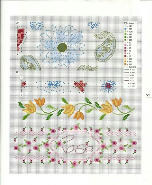 ♥Meus Gráficos De Ponto Cruz♥: Flores   punto de cruz   Pinterest ...