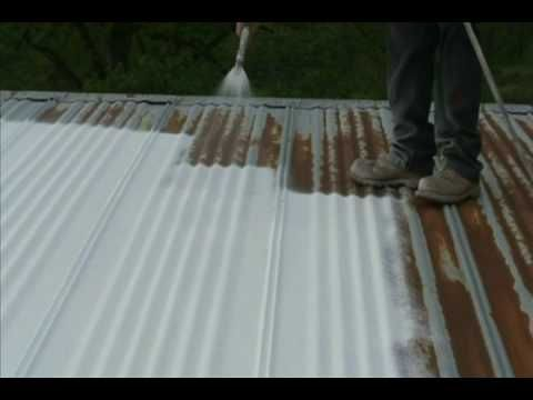 Easy Metal Roof Repair Using Maximum Stretch Spray On Coating By Amesresearch Com Roof Paint Metal Roof Paint Metal Roof Repair
