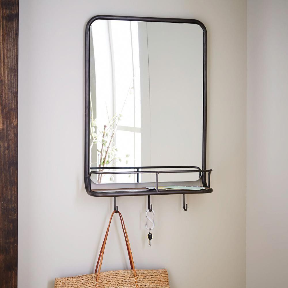 Entryway Mirror Hooks Smallentrywayideas Entryway Mirror With Hooks Mirror With Hooks Entryway Mirror