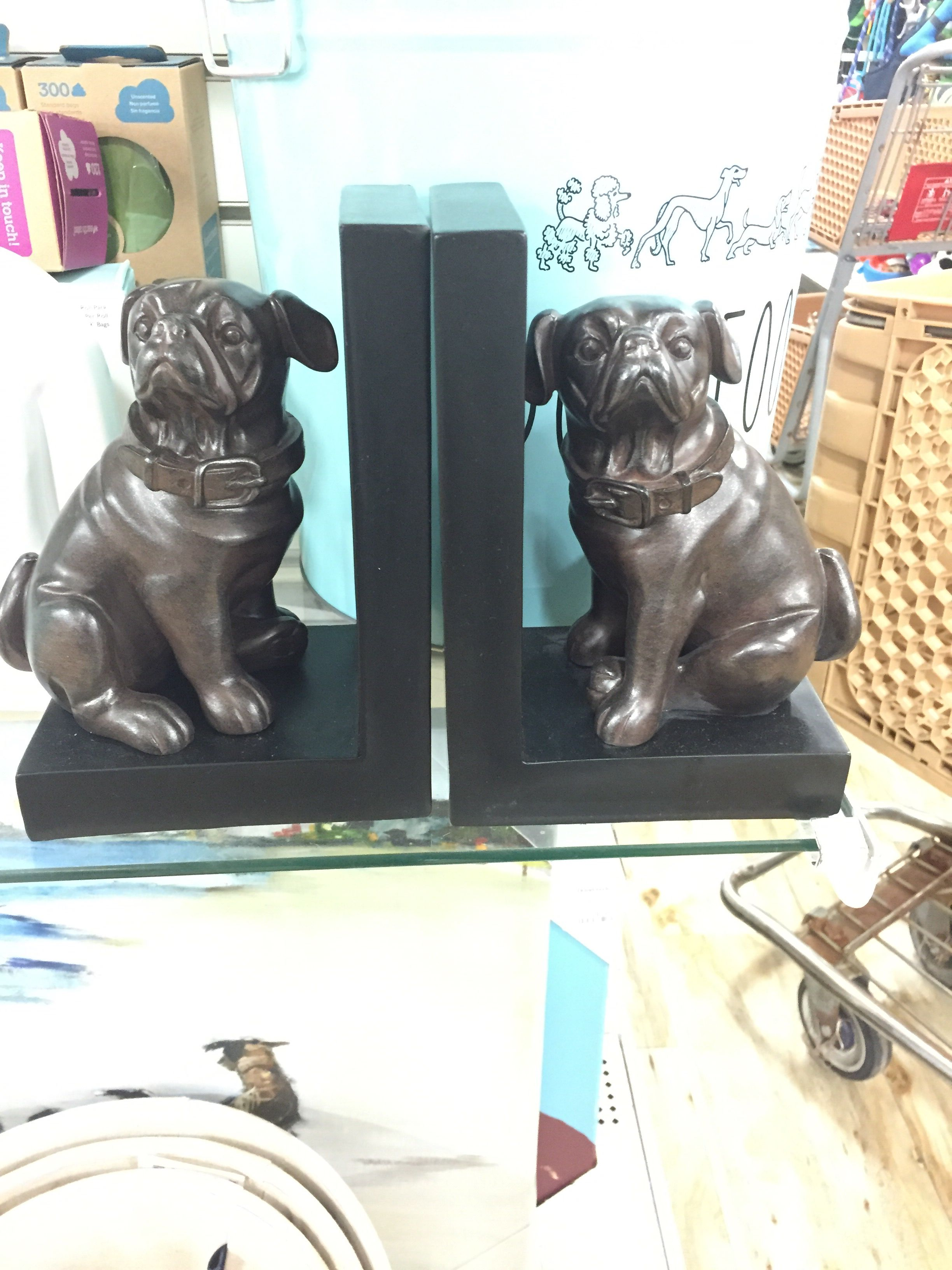 Dog bookends at home goods Dog bookends, Bookends
