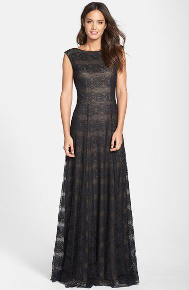 Vera Wang Cap Sleeve Lace Gown | Nordstrom | wish list | Pinterest ...