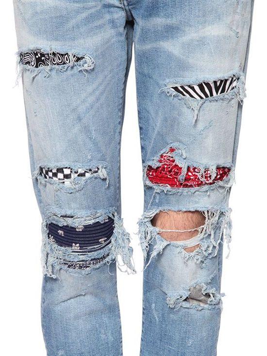ee76e1cea7c amiri - men - jeans - 15cm destroyed patchwork denim jeans