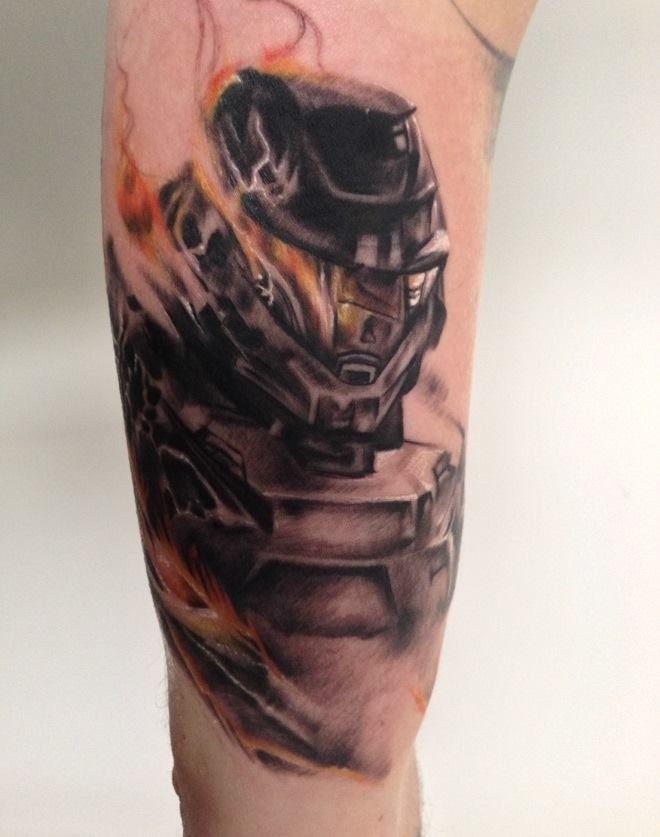 Master Chief Tattoos Halo Tattoo Gamer Tattoos