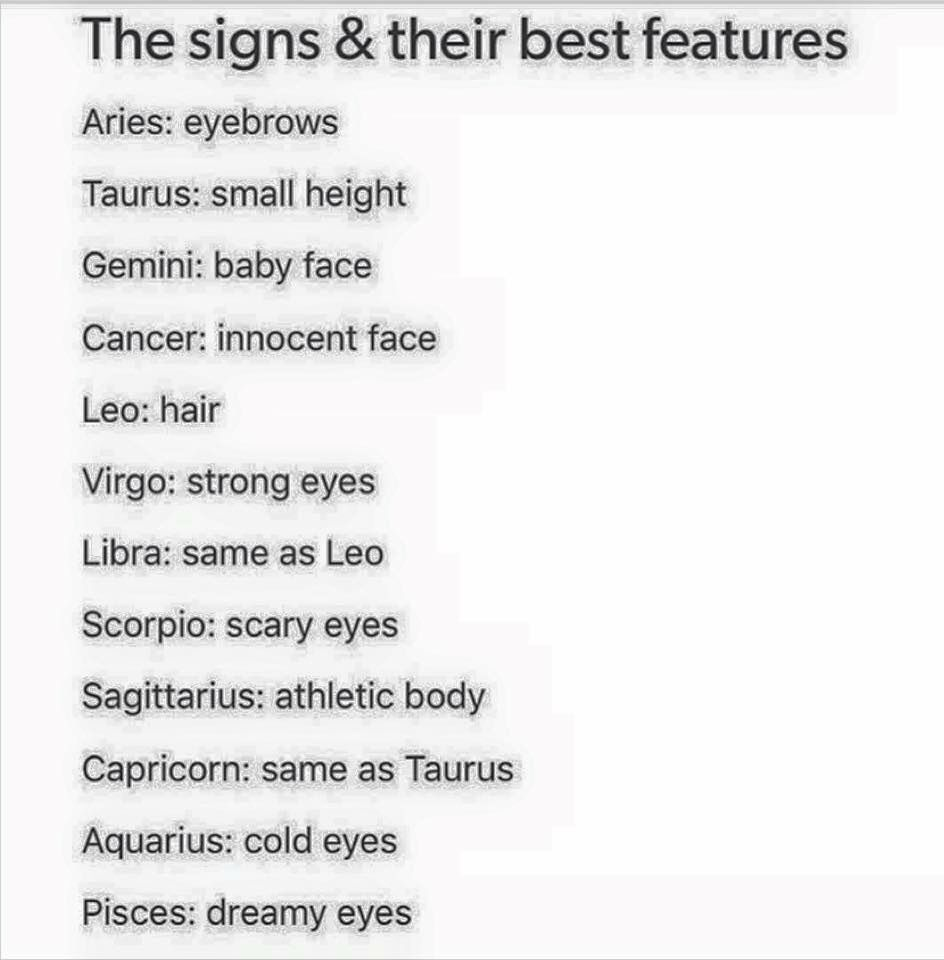 The Signs And Their Best Features Zodiac Zodiac Signs Aquarius Zodiac Signs Sagittarius Zodiac Signs Taurus