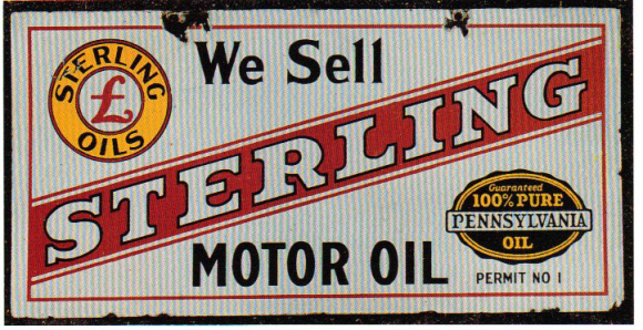We Sell Sign For Sterling Motor Oil More Porcelain Signs Pinterest Porcelain Signs And