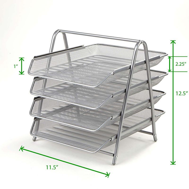 98202c69f Mind Reader 4-Tier Steel Mesh Paper Tray Desk Organizer | Products ...