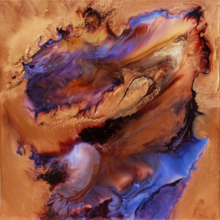 "Lia Melia; Mixed Media, 2012, Painting ""Circe"""