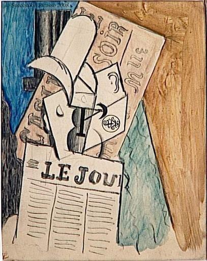 Homem lendo jornal  Pablo Picasso