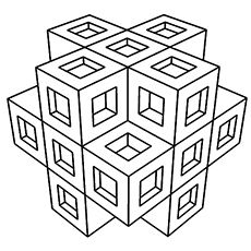 Top 30 Free Printable Geometric Coloring Pages Online Cubicle and