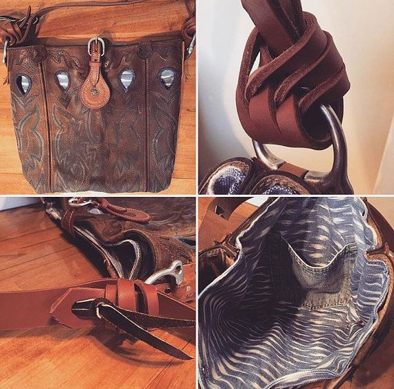 Custom made Cowboy Boot Purse Upcycle your by TheEquestrianista
