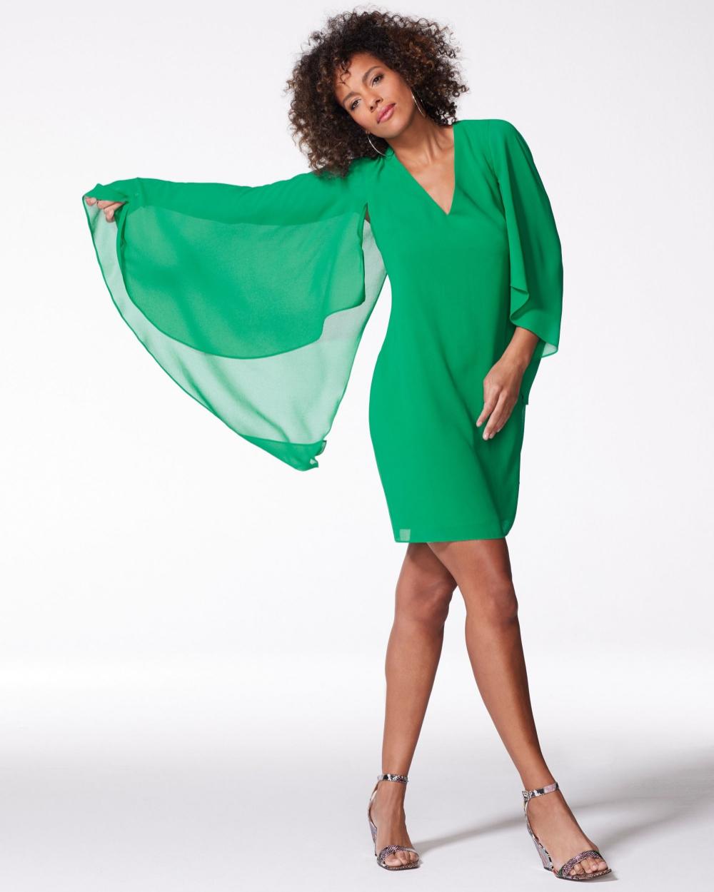 Vince Camuto Cape Effect Shift Green Fashion Apparel Trending [ 1250 x 1000 Pixel ]