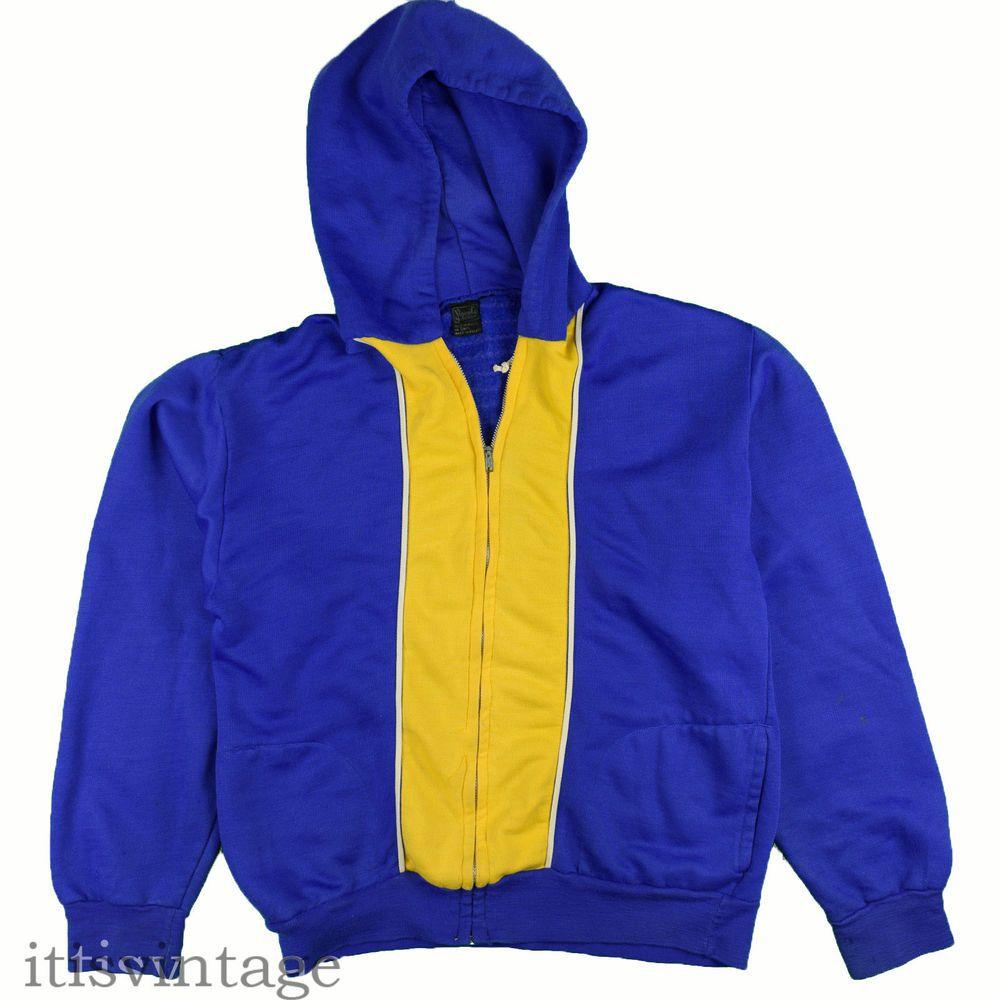 Veneto by Seaton Hoodie Sweatshirt Vintage 70 s 80 s Color Block Full Zip  Medium  VenetobySeaton  FullZipHoodie  itisvintage  hoodie  70s b261840dd8362