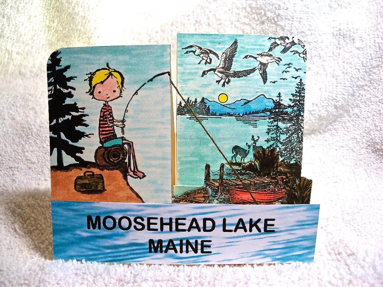 Handmade side step greeting card from moosehead lake or your lake handmade side step greeting card from moosehead lake or your lake features boy kristyandbryce Choice Image