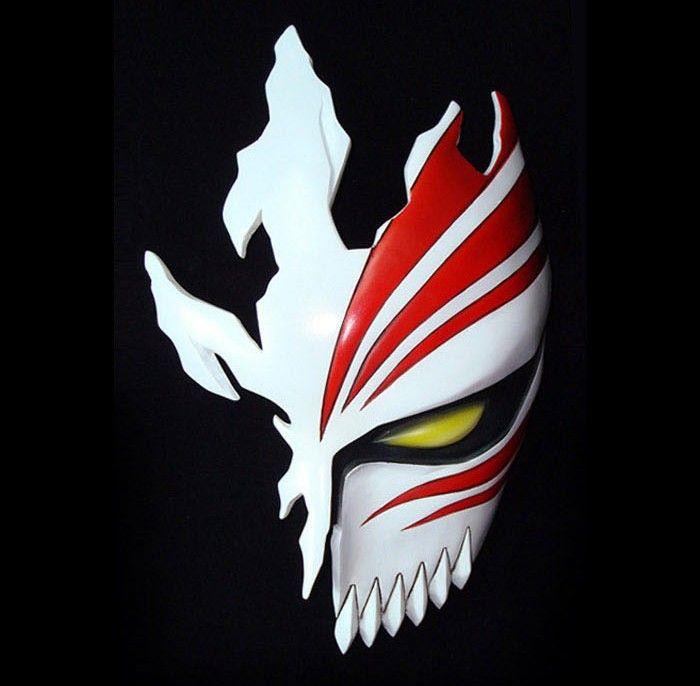Ichigo hollow mask gonna do this for the fantasy session of my theatre class make up unit - Ichigo vizard mask ...